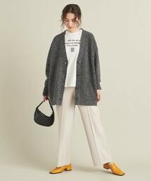 BY 喀什米爾羊毛  寬版V領對襟外套 ∴