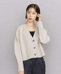 BY 5G 羊毛 短版V領 對襟外套