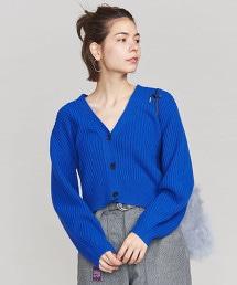 BY 羊毛混尼龍 羅紋短版寬鬆對襟外套