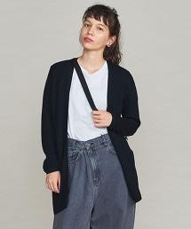 BY 16針腳羊毛畦編針織無釦對襟外套