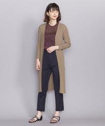BY 棉混縲縈羅紋長版對襟外套