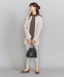 BY 雙層紗無領中長版對襟外套