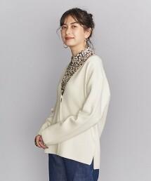 BY 美麗諾羅紋V領針織對襟外套 -可手洗-