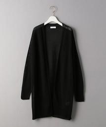 BY 透膚 無釦中長版對襟外套 日本製