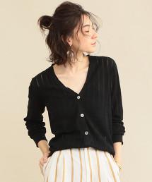 【預購】【WEB限定】by ※小孔夏季針織對襟外套 -可手洗-