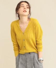 【WEB限定】by ※小孔夏季針織對襟外套 -可手洗-