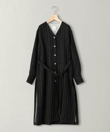 <OKIRAKU>直條紋長版套衫