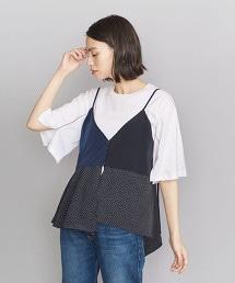 <OKIRAKU>異材質吊帶背心上衣