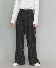 <OKIRAKU>直條紋寬褲