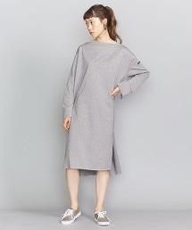 <Americana >棉質一字領洋裝/灰色