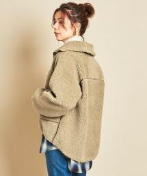 【特別訂製】<Americana>∴仿羊絨 拉鍊夾克 日本製