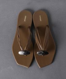<PIPPICHIC>CONCHO ECO/LTH 鉗子涼鞋