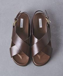 UWCB 交叉 厚底 涼鞋†