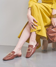 UWFM 方頭 平底穆勒鞋