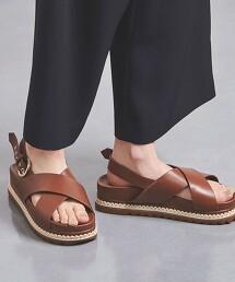 UWMSC 交叉綁帶平底涼鞋†