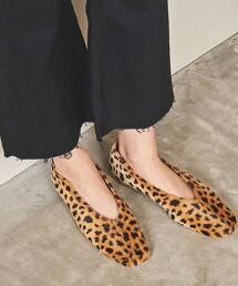 <UNITED ARROWS>方楦頭 V形切割 平底鞋 日本製