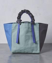 【特別訂製款】<LUDLOW>帆布 色塊 葡萄狀提手托特包