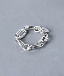 <PHILIPPE AUDIBERT>ELROI 鎖鏈 黃銅戒指 法國製