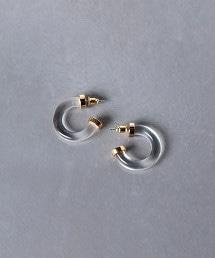 UWCB 透明 曲線 耳釘