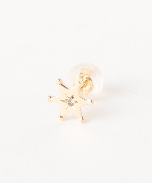 <AURORA GRAN>YOAKENOHOSHI 星星造型單側耳釘