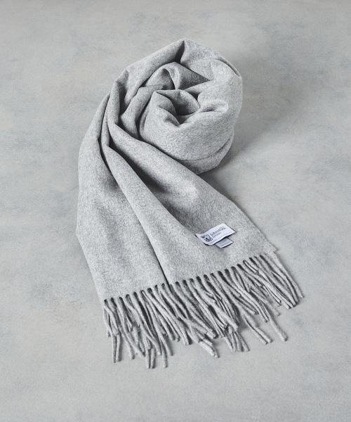 <JOHNSTONS>喀什米爾羊毛素色圍巾 190×70