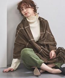 UBSC 羊毛混紡喀什米爾格紋圍巾 OUTLET商品