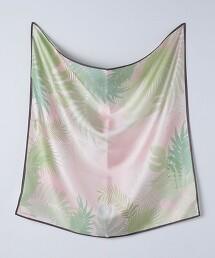 UBC 植物 蠶絲 絲巾 日本製