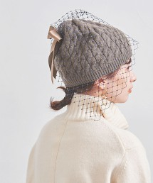 【特別訂製】<Athena New York>TESS CA 硬網 蝴蝶結 針織毛帽