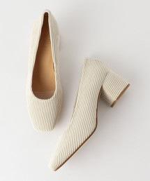 <KMB>燈芯絨 方鞋跟包鞋