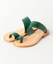 <CUOIERIA EDER>皮革鉗子狀涼鞋