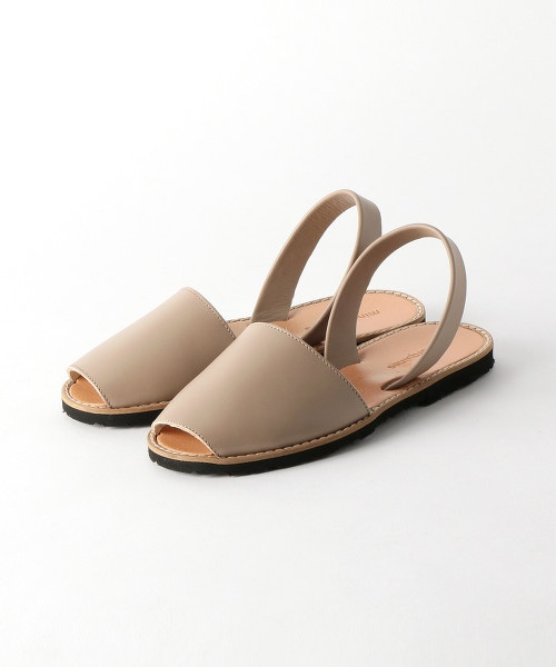 <minorquines>皮革涼鞋