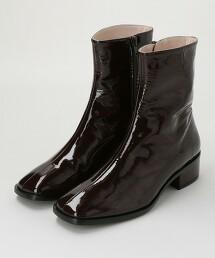 <MERITXELL>皮革亮面短靴