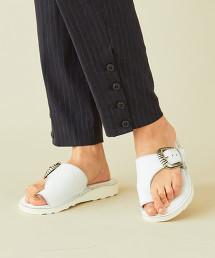 【特別訂製】<CAMINANDO>∴皮革扣環夾腳涼鞋 OUTLET商品
