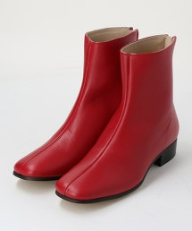 <TILLETT>皮革方頭短靴 OUTLET商品