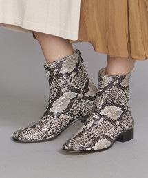 <TILLETT>皮革方頭短靴