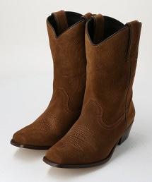 【特別訂製】<CAMINANDO>仿麂皮 西部風長靴 о