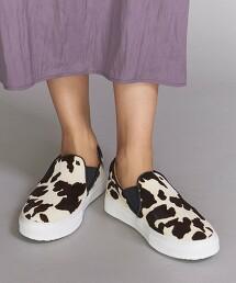 <MOHI...>動物花紋 短絨毛皮革懶人鞋