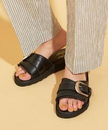 【特別訂製】<CAMINANDO>∴皮革寬扣環 涼鞋