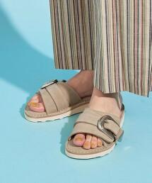 【特別訂製】<CAMINANDO>∴ 麂皮 皮革寬扣環 涼鞋