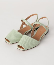 <nereana>皮革魚口涼鞋