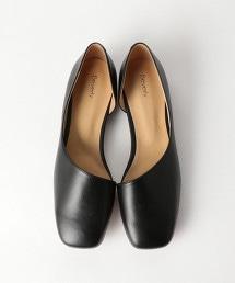 <BEVERLY>側邊挖空皮革方頭鞋 OUTLET商品