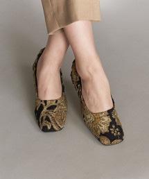 <BEVERLY>皺褶感跟鞋