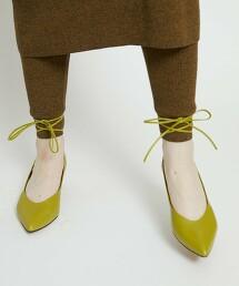 <Arrum>真皮 尖頭 綁帶 跟鞋 日本製