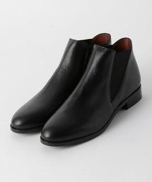 BY 皮革側鬆緊短靴