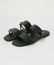 BY 牛皮 雙線 側邊流線型設計 涼鞋 義大利製