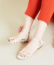 BY 腳踝綁帶皮革涼鞋 日本製