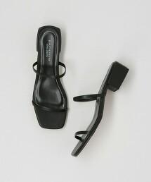 BY 仿皮二線涼鞋 日本製