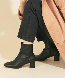 BY∴ 方頭中央車線短靴 日本製