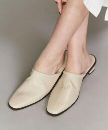 BY 柔軟仿皮中央車線穆勒鞋子 日本製