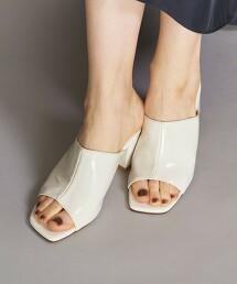 BY 仿皮革 露趾 裸跟鞋 日本製造